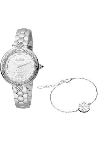 Just Cavalli Time Quarzuhr »creazione 3, JC1L128M0055«, (Set, 2 tlg., Uhr mit 1... kaufen