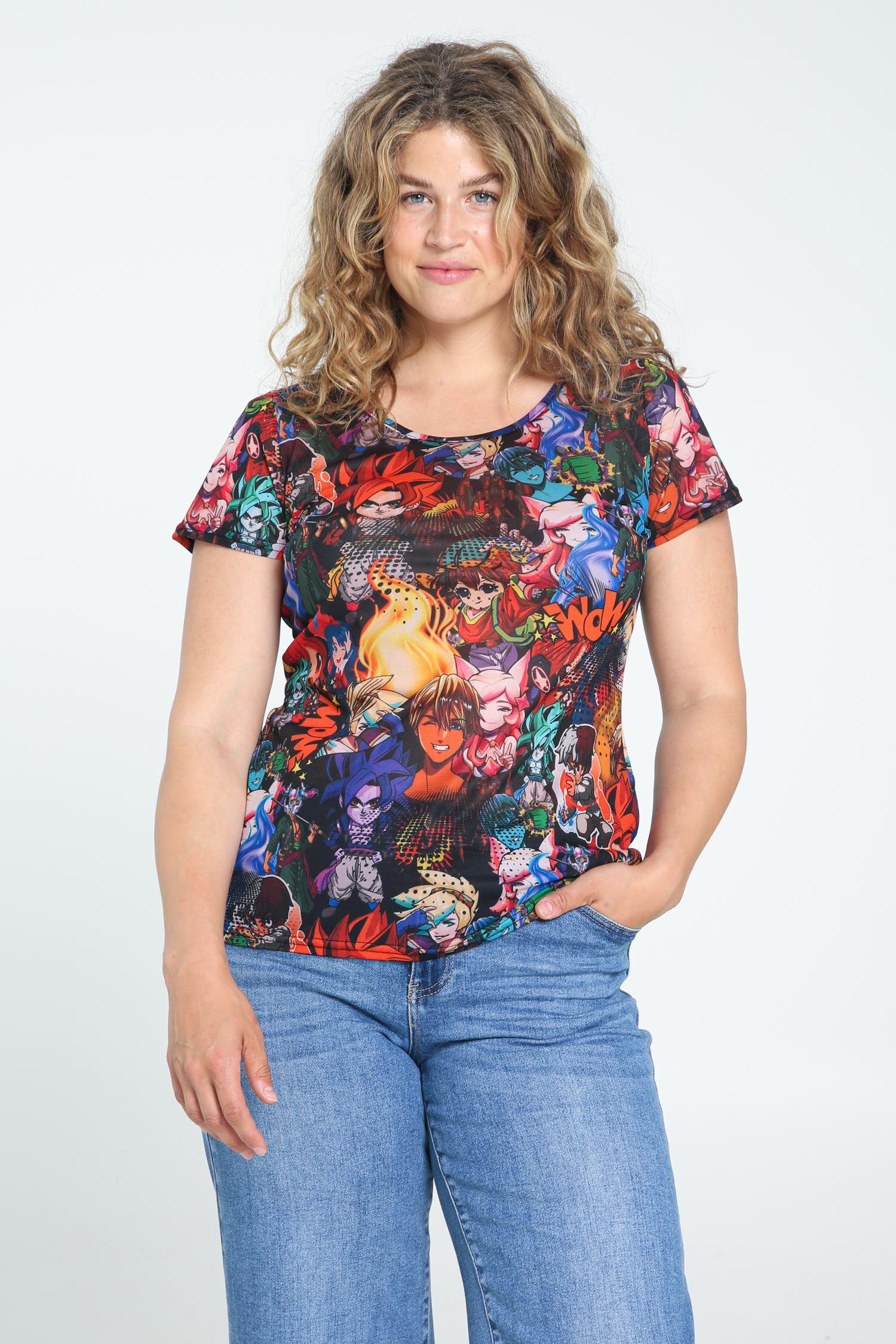 paprika -  Print-Shirt Kurze Ärmel, casual
