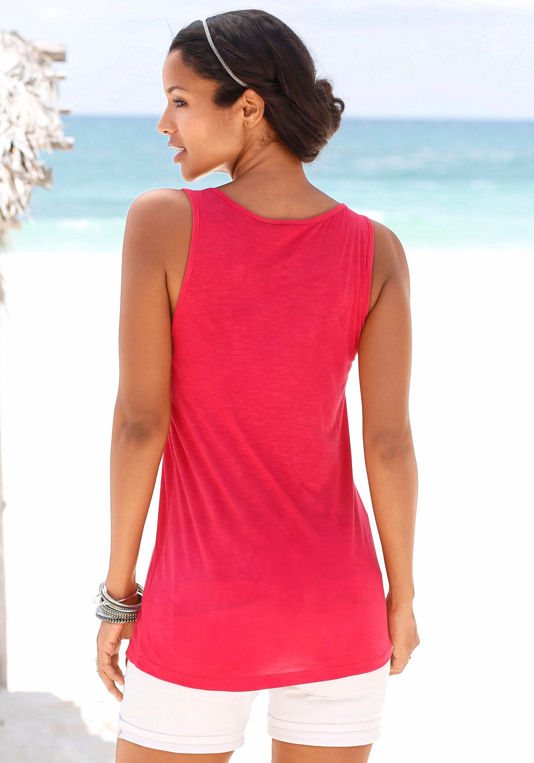 soliver beachwear strandtop Mit Rundhalsausschnitt
