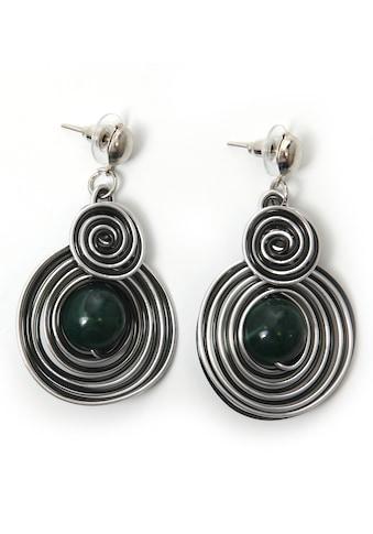 J.Jayz Paar Ohrstecker »Kreise, dunkelgrün, trendig«, mit Acrylperlen kaufen
