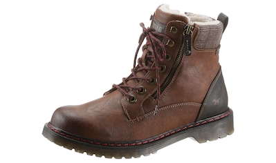 Mustang Shoes Winterboots, mit kariertem Textileinsatz kaufen