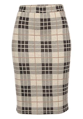 Aniston SELECTED Jerseyrock, im edlen Karo-Dessin kaufen