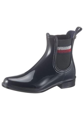 TOMMY HILFIGER Chelseaboots »CORPORATE ELASTIC RAINBOOT« kaufen