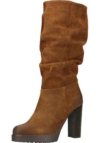 Steven New York High-Heel-Stiefel »Veloursleder« kaufen