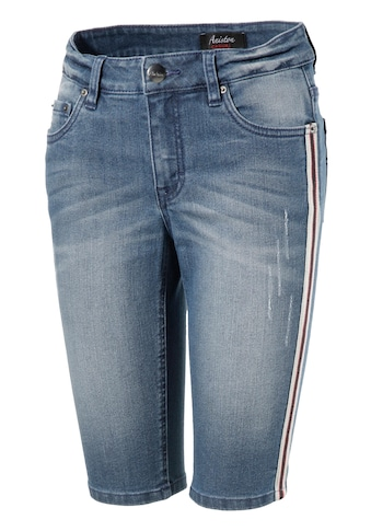 Aniston CASUAL Jeansbermudas, mit Galonstreifen kaufen