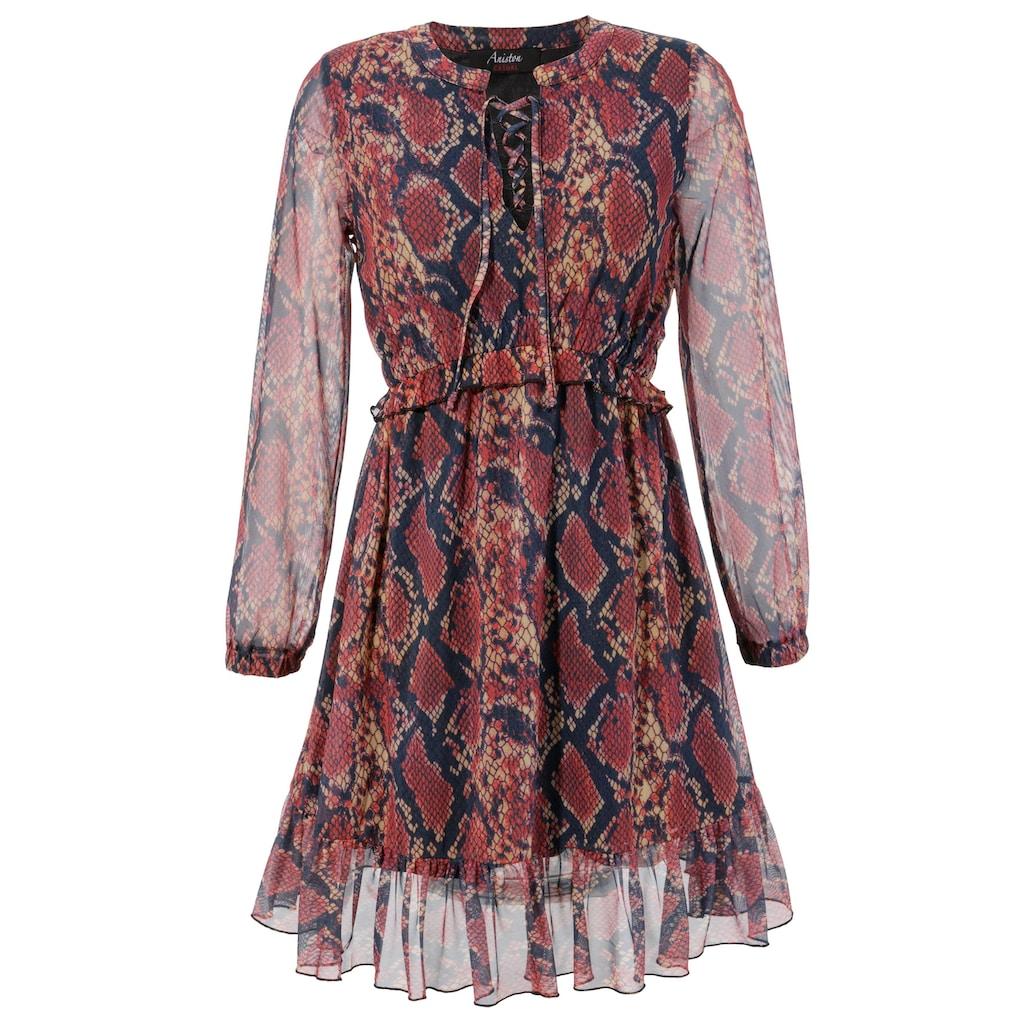 Aniston CASUAL Partykleid, im trendigen Schlangenprint