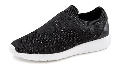 LASCANA Sneaker, Slip-In aus bequemem Mesh mit leichter Glanz-Optik kaufen