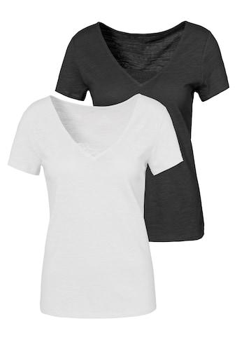 Vivance T-Shirt, mit schöner Spitze am Ausschnitt kaufen