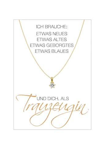 HERZ-KARTE Silberkette »Trauzeugin«, Ankerkette gelbvergoldet mit Solitär 925/-... kaufen