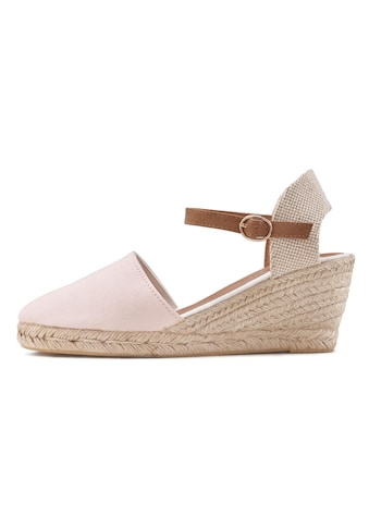LASCANA Sandalette, mit Keilabsatz in Bast-Optik kaufen