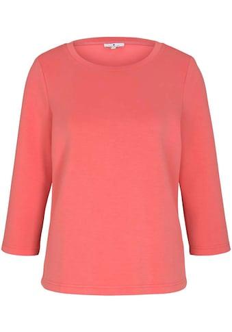 TOM TAILOR Rundhalsshirt, mit 3/4-Ärmeln kaufen