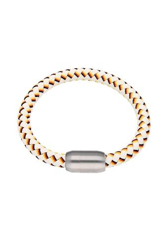 Jacques Charrel Armband »weiß, geflochten, in Deutschland-Optik mit Magnetverschluß« kaufen