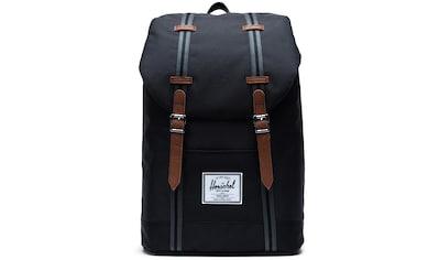 Herschel Laptoprucksack »Retreat, Black/Black/Tan« kaufen