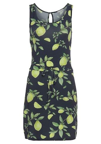 Tamaris Jerseykleid, mit Schnürung und sommerlichem Print kaufen