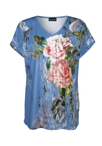 m. collection V-Shirt, mit Blumendruck kaufen