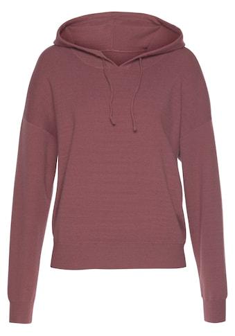 Buffalo Kapuzensweatshirt, mit Kordelzug und Rippbündchen kaufen