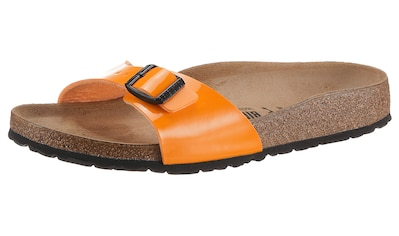 Birkenstock Pantolette »Madrid Patent«, mit vorgeformtem Fußbett, schmale Schuhweite kaufen