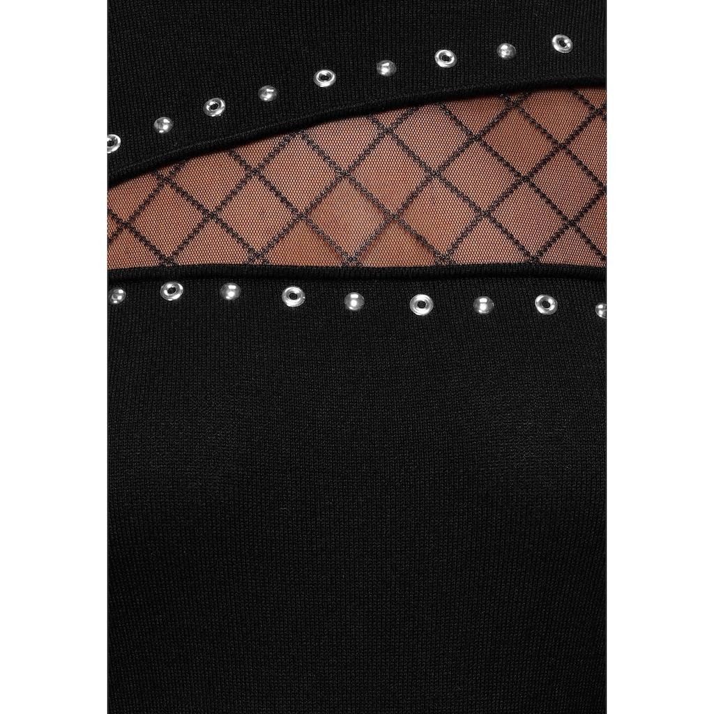 Melrose Strickkleid, mit Netz-Detail und Ziernieten