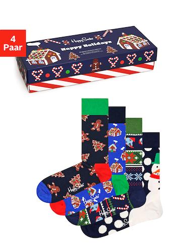 Happy Socks Socken »gingerbread cookies«, (4 Paar), in winterlichen Designs kaufen