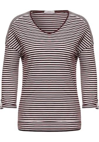 Cecil V-Shirt, mit Streifenlook kaufen