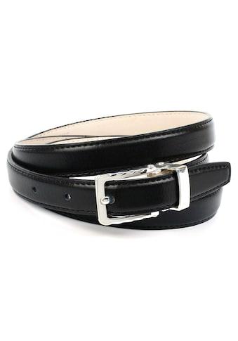 Anthoni Crown Ledergürtel, schmal, aus Lackleder, helle Rückseite kaufen