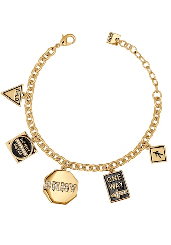 DKNY Armband »NYC Street Sign Charm BR (GL), 5547985«, mit Swarovski® Kristallen und Emaille kaufen