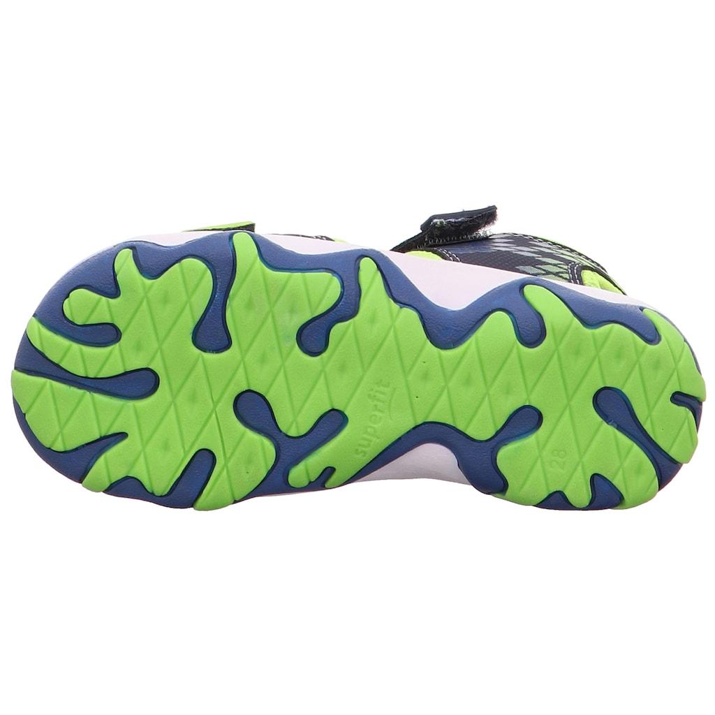 Superfit Sandale »Mike 3.0«, mit kontrastfarbener Paspelierung