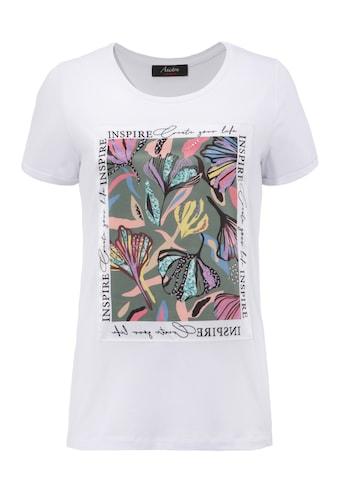 """Aniston CASUAL T-Shirt, """"inspirierende"""" Applikation mit Glitzersteinchen - NEUE KOLLEEKTION kaufen"""