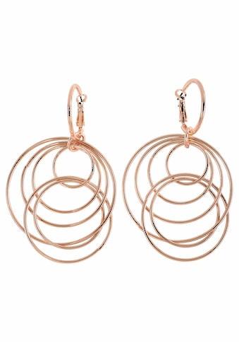 J.Jayz Paar Ohrhänger »mit beweglichen Ringen im modischen Design«, (1 tlg.), mit abnehmbaren Einhängern kaufen