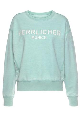 Herrlicher Sweatshirt »CARRIE«, mit Herrlicher Statement-Print kaufen