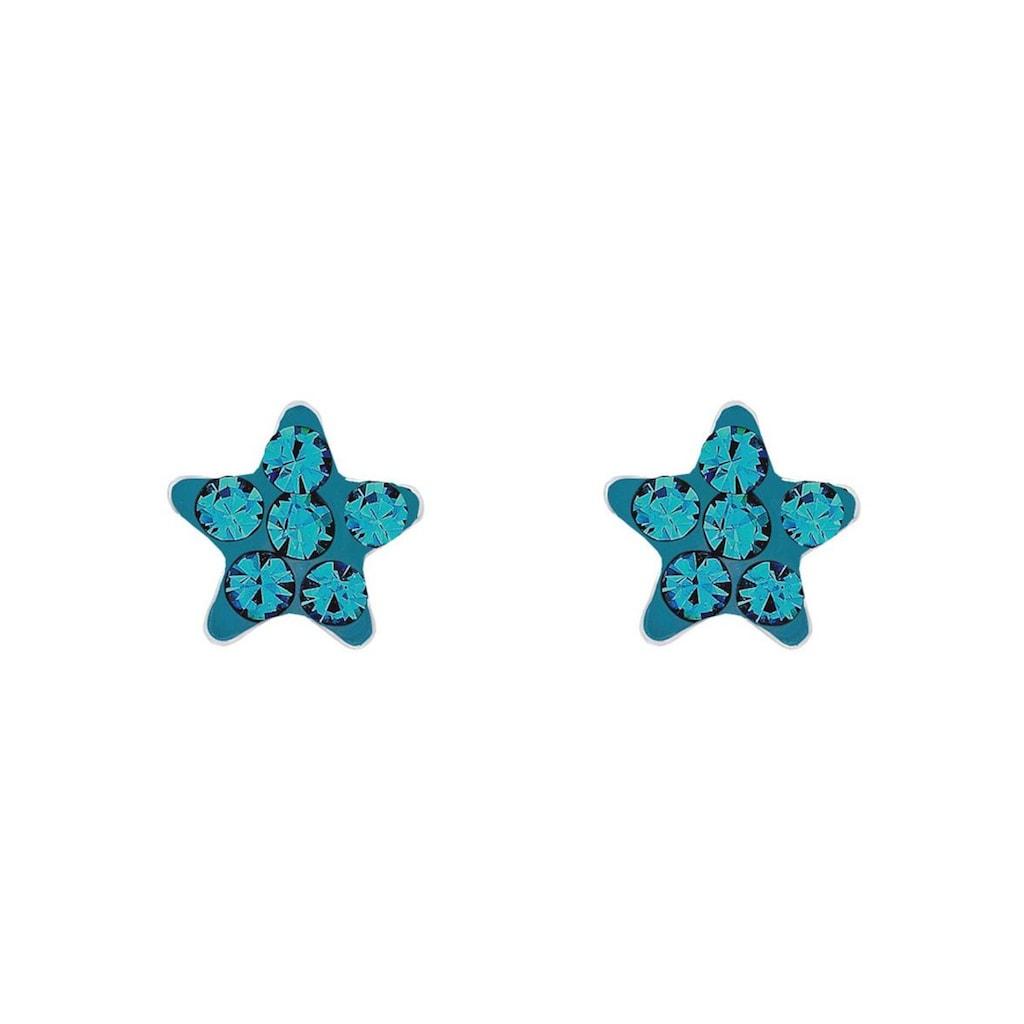 Amor Paar Ohrstecker »Stern, 9209859«, mit Kristallglassteinen