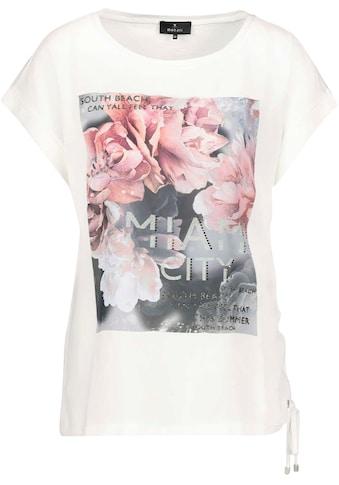 Monari Shirtbluse, mit Rosendruck und zusätzlicher Glitterschrift kaufen