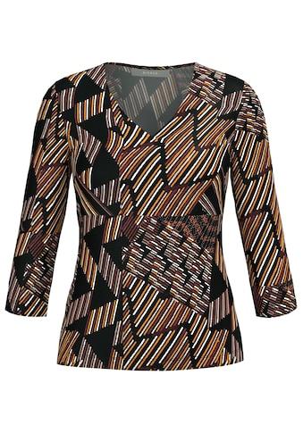 bianca 3/4-Arm-Shirt »EMILY«, im geometrischen Alloverprint kaufen