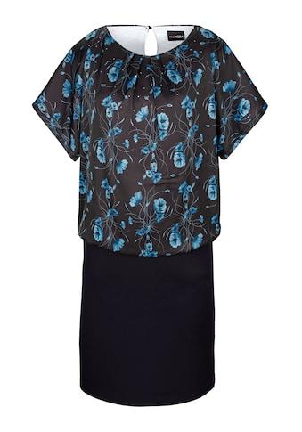 MIAMODA Kleid mit Blumendruck und Doppeloptik kaufen