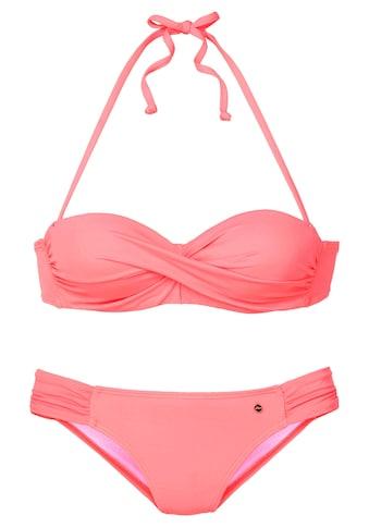 s.Oliver Beachwear Bügel-Bandeau-Bikini, mit Raffung kaufen
