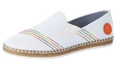 Rieker Slipper, mit Kontrastnähten in Regenbogenfarben kaufen