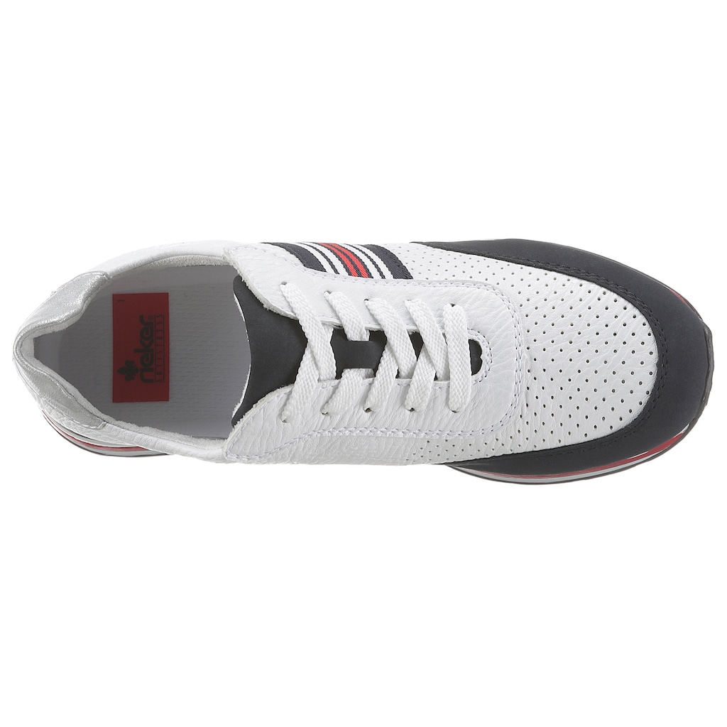 Rieker Sneaker, mit kontrastfarbenen Details