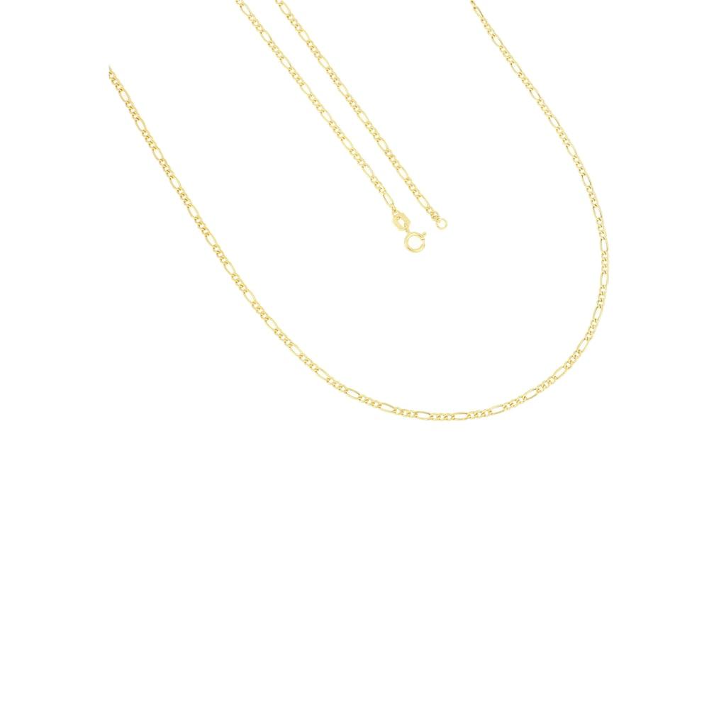 Firetti Goldkette »Figarokettengliederung, 2,0 mm breit, 2-fach diamantiert, halbmassiv, Glanzoptik«