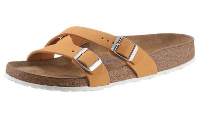 Birkenstock Pantolette »Yao Balance«, aus Nubukleder, Schuhweite: schmal kaufen