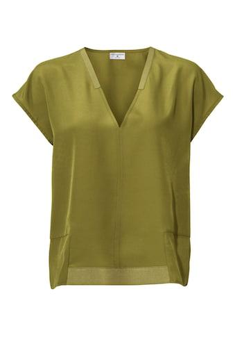 Oversized Bluse mit V - Ausschnitt kaufen