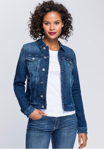 Tommy Jeans Jeansjacke »VIVIANNE SLIM TRUCKER NNMBS«, mit Tommy Jeans Branding Knöpfen & Logo-Flag kaufen