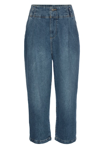 edc by Esprit High-waist-Jeans, mit Bundfalten und weiter Beinform kaufen
