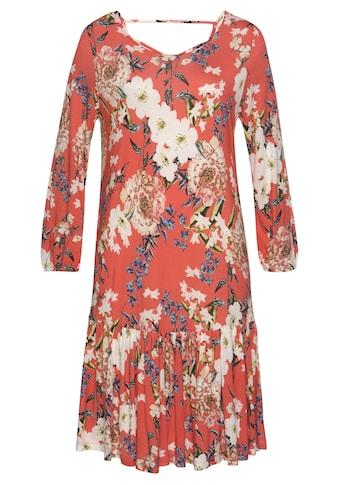 s.Oliver Beachwear Jerseykleid, mit Blumenprint kaufen