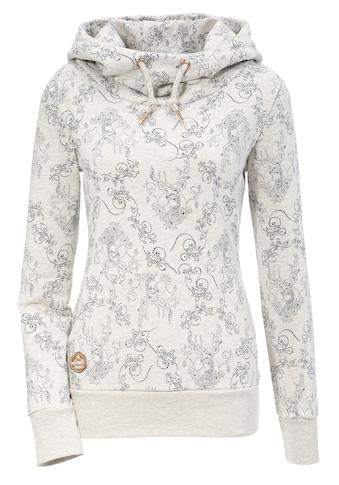 Hangowear Kapuzensweatshirt, Damen bequemer Kapuzensweater mit All-over Druck kaufen
