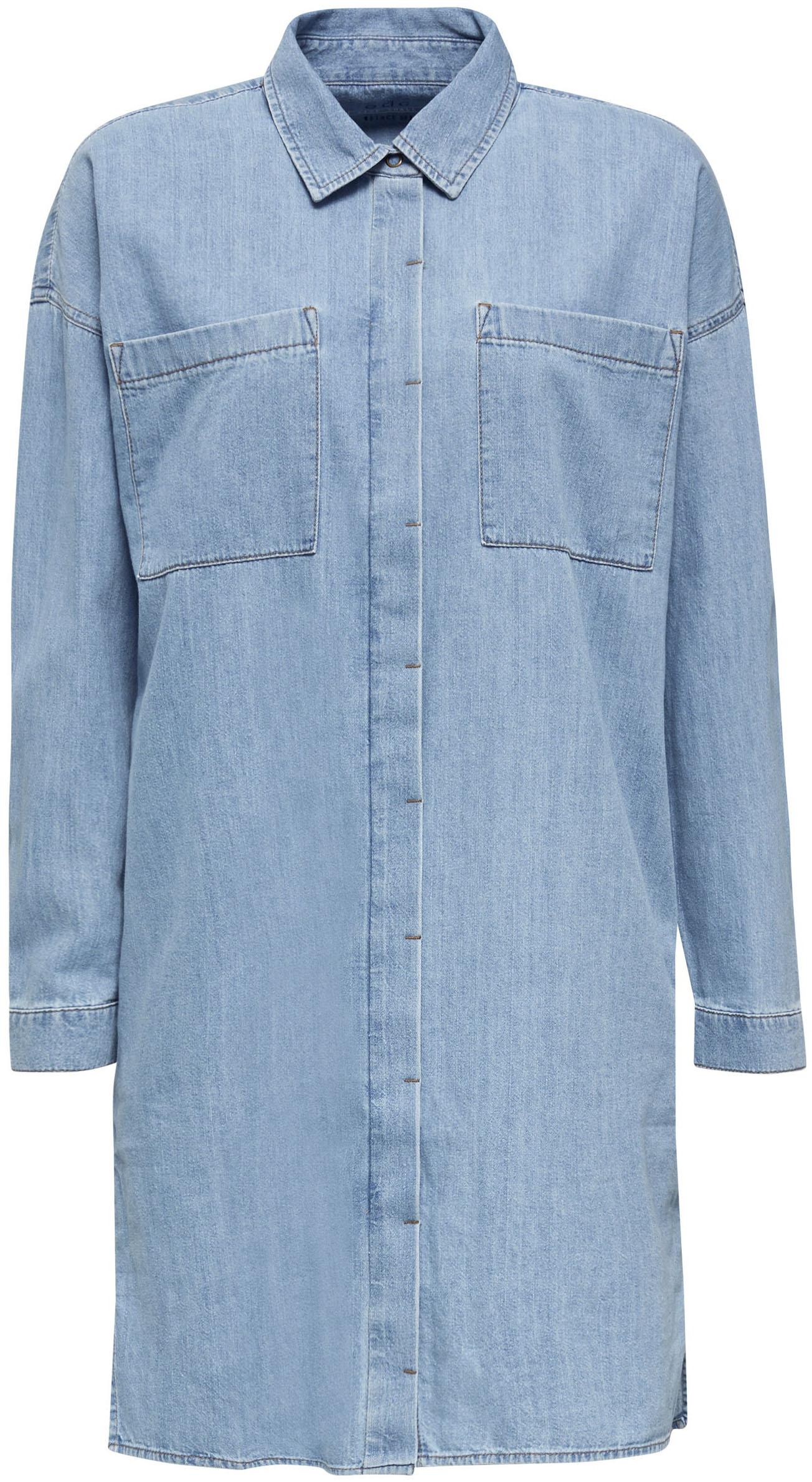 edc by esprit -  Jeanskleid, mit aufgesetzten Taschen vorne