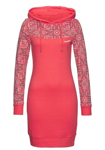 KangaROOS Sweatkleid, mit schönem Print im Ärmel- und Brustbereich kaufen