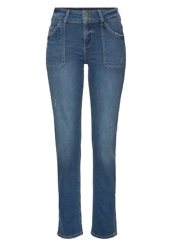 edc by Esprit 5-Pocket-Jeans, mit aufgesetzten Taschen und Doppelknopf-Verschluss kaufen