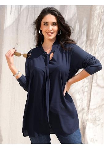 MIAMODA Blusenshirt, mit Schnürung am Kragen kaufen