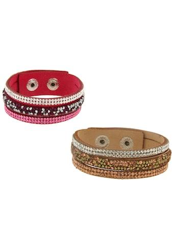 La Piora Armband »Armband Set«, pink & hellbraun kaufen