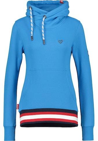 Alife & Kickin Sweatshirt »SarahAK«, Kapuzen-Longsweater mit breitem sportivem Kontrastbündchen kaufen